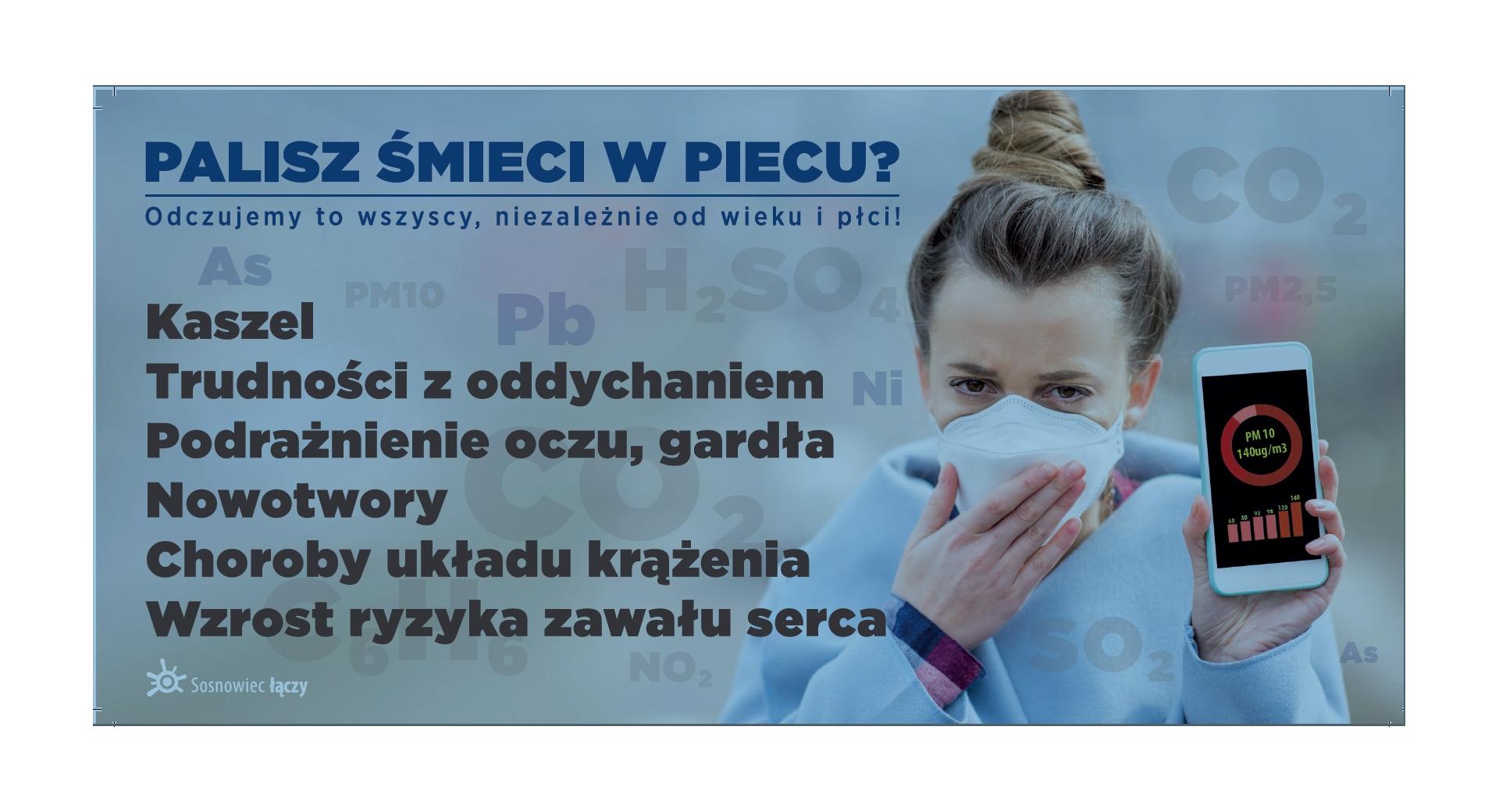 Obrazek przedstawiający konsekwencje palenia w piecach