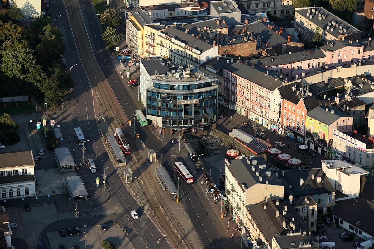 Zdjęcie przedstawiające centrum miasta Sosnowca